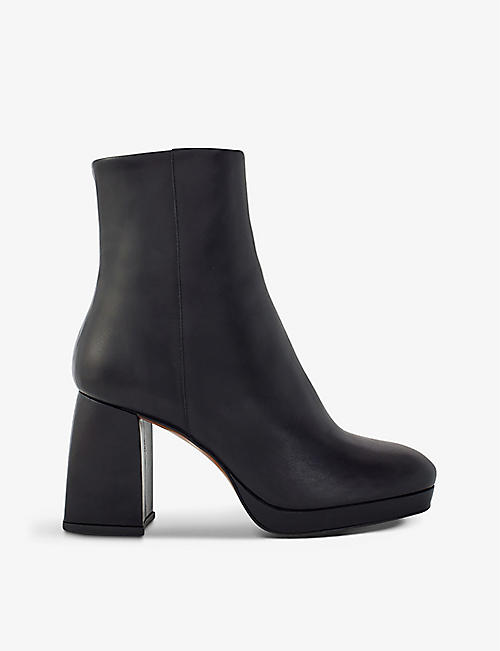 MAJE: Fara heeled leather ankle boots