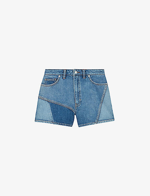 MAJE: Iris high-rise denim shorts