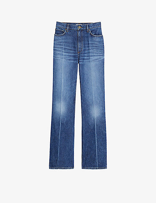 SANDRO: Relaxed-fit high-rise jeans