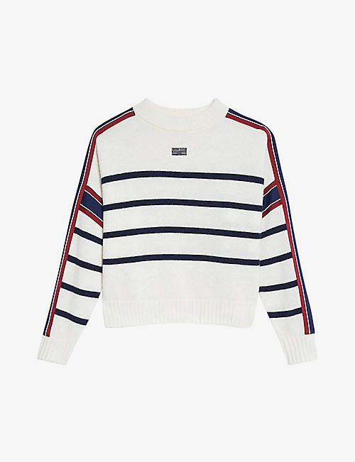 SANDRO: Saylor striped wool-blend jumper