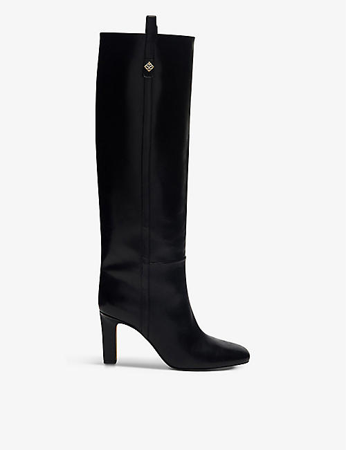 SANDRO: Jily leather heeled boots
