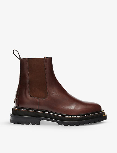 SANDRO: Noha leather Chelsea boots