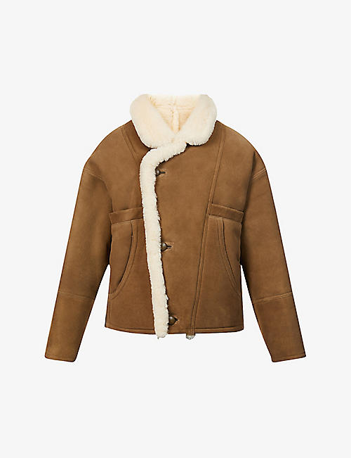 SANDRO: Sherly oversized suede jacket