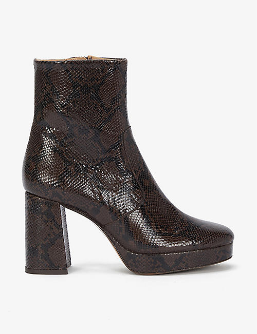 SANDRO: Carmen leather ankle boots
