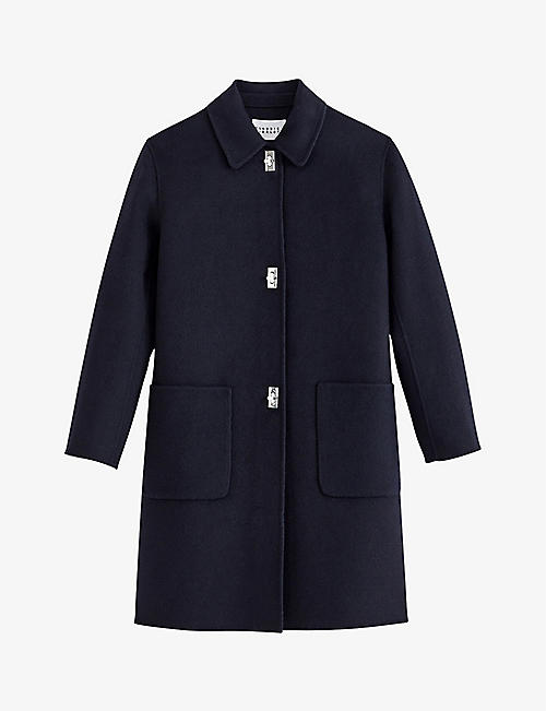 CLAUDIE PIERLOT: Twist-lock button wool-blend coat