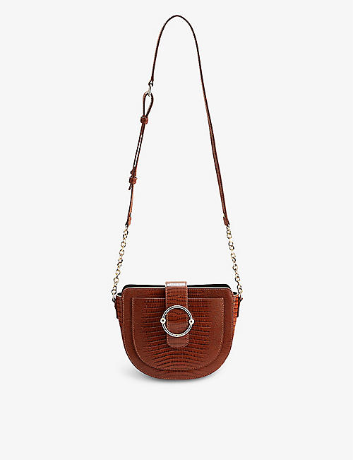 CLAUDIE PIERLOT: Anouck Besace leather shoulder bag