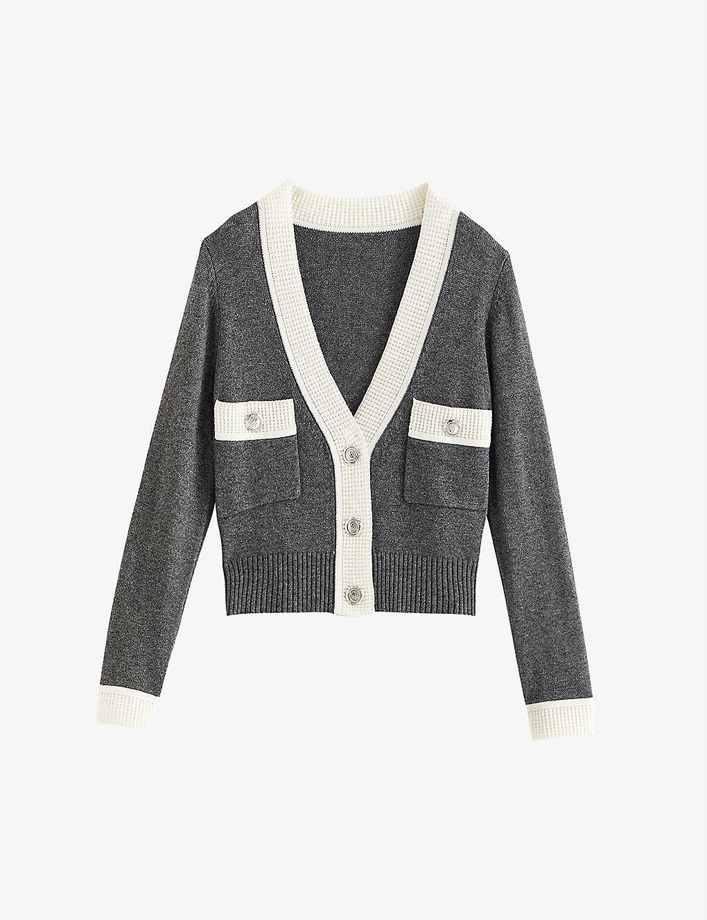 CLAUDIE PIERLOT: Mini buttoned wool-blend cardigan