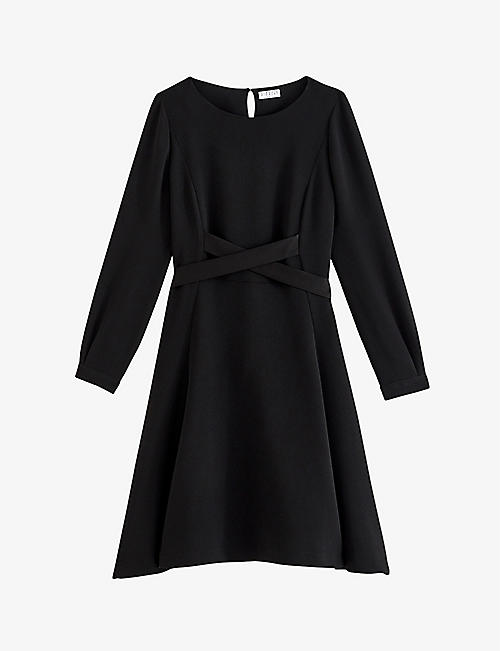 CLAUDIE PIERLOT: Asymmetric crepe skater dress