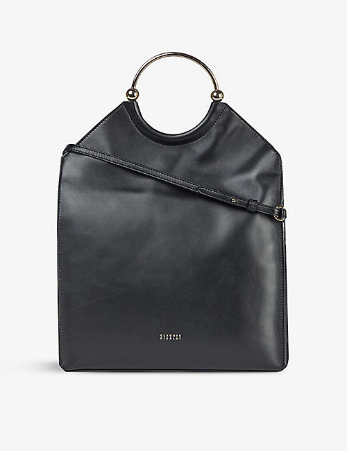 CLAUDIE PIERLOT: Anouck leather shoulder bag