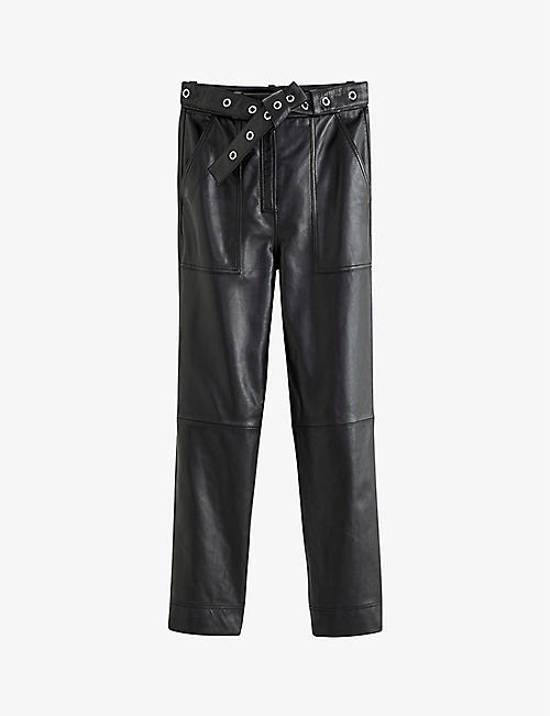 CLAUDIE PIERLOT: Cilla leather trousers