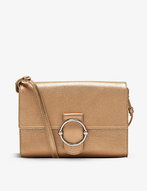 CLAUDIE PIERLOT: Anouck metallic leather cross-body bag