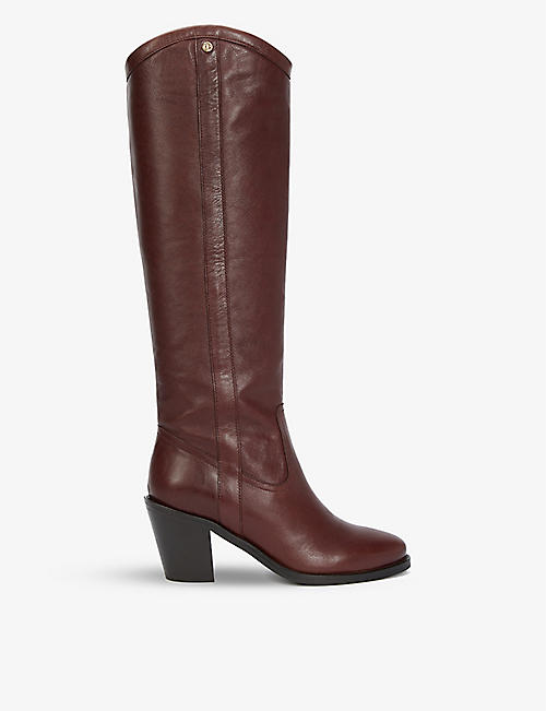 CLAUDIE PIERLOT: Camargue leather Western boots