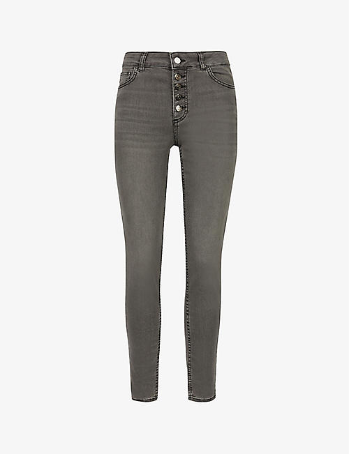CLAUDIE PIERLOT: Philomenebis high-rise slim-fit jeans