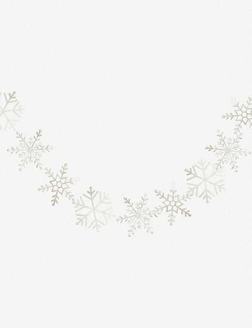 GINGER RAY: Glittered snowflake bunting 3m