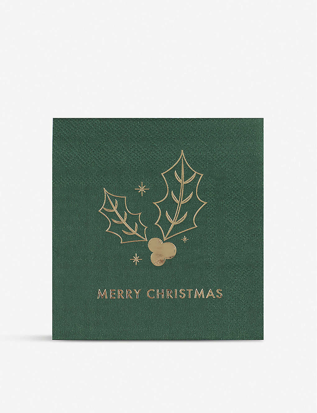 GINGER RAY: Gold-foiled festive napkins pack of 20