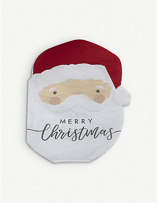 GINGER RAY: Santa Claus Christmas paper napkins pack of 16