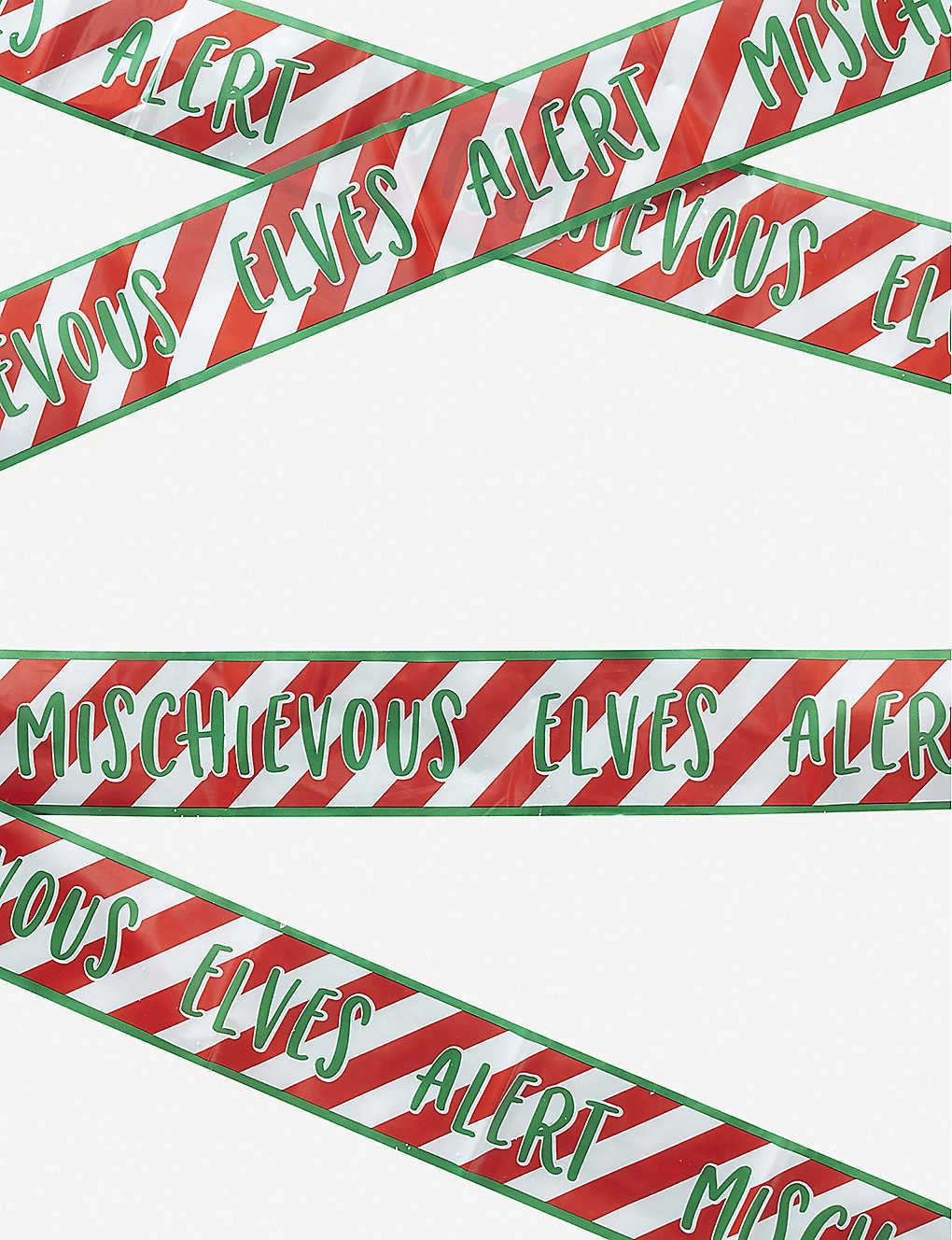 GINGER RAY: Elf Caution Tape Christmas decoration 6m