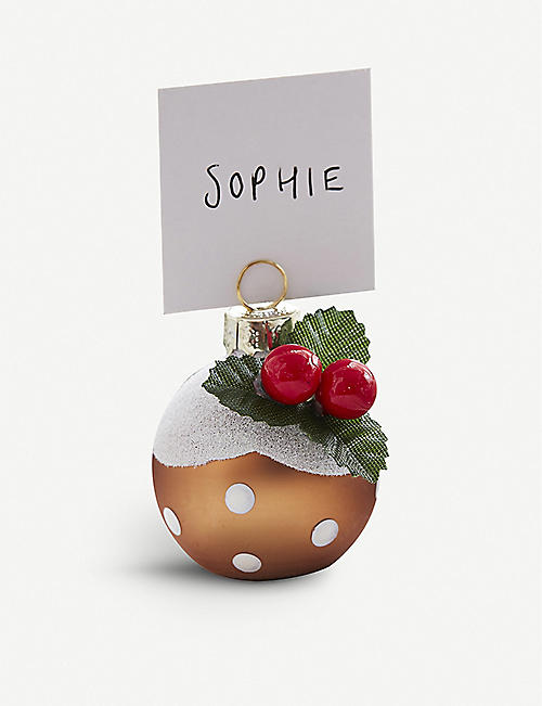 GINGER RAY: Christmas pudding place card holders pack of six