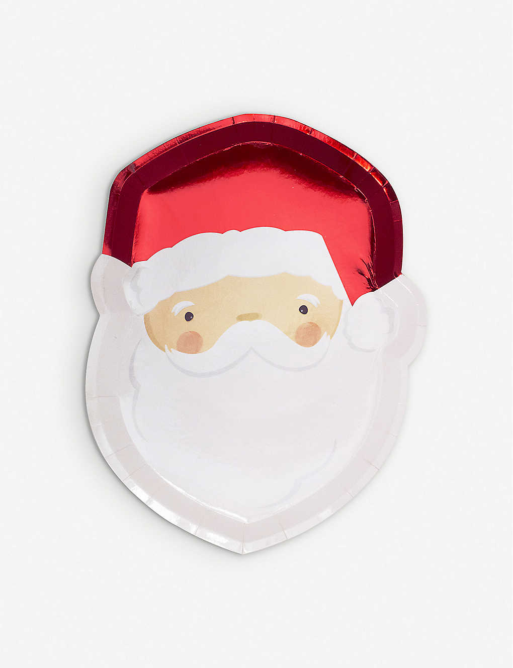 GINGER RAY: Santa foiled paper plates pack of eight