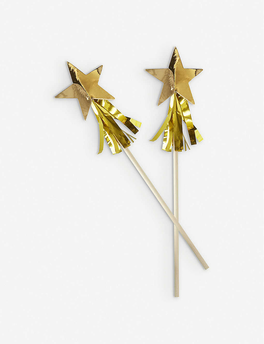 GINGER RAY: Star tassel-embellished drinks stirrers pack of 15