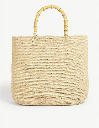 HEIDI KLEIN: Savannah medium woven tote bag