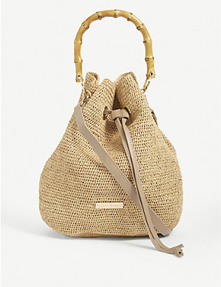 HEIDI KLEIN: Savannah mini raffia duffle bag
