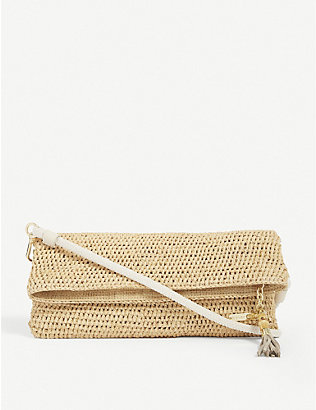 HEIDI KLEIN: Grace Bay raffia cross-body bag