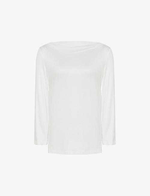 REISS: Faye jersey boatneck top