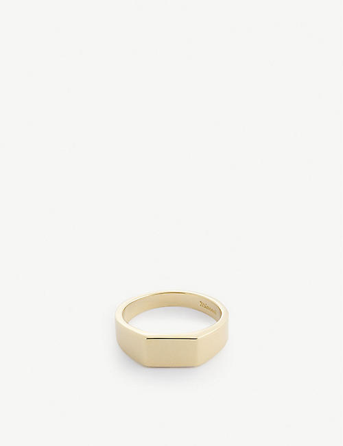 MIANSAI: Geo 18ct gold-plated sterling silver ring