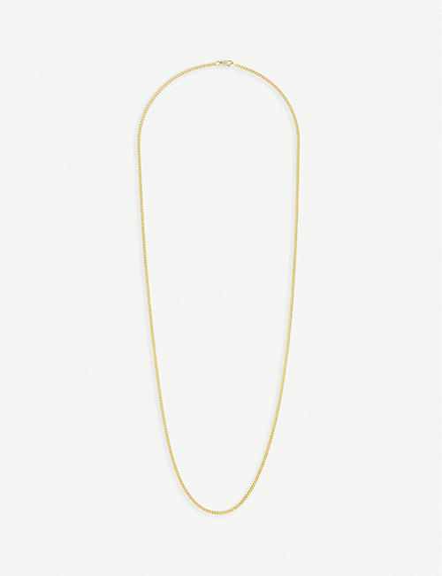 MIANSAI: 14ct gold-plated sterling silver chain necklace