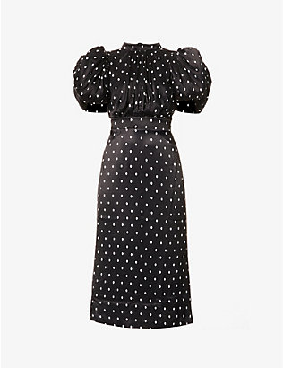 ROTATE BIRGER CHRISTENSEN: Dawn polka dot-print crepe midi dress