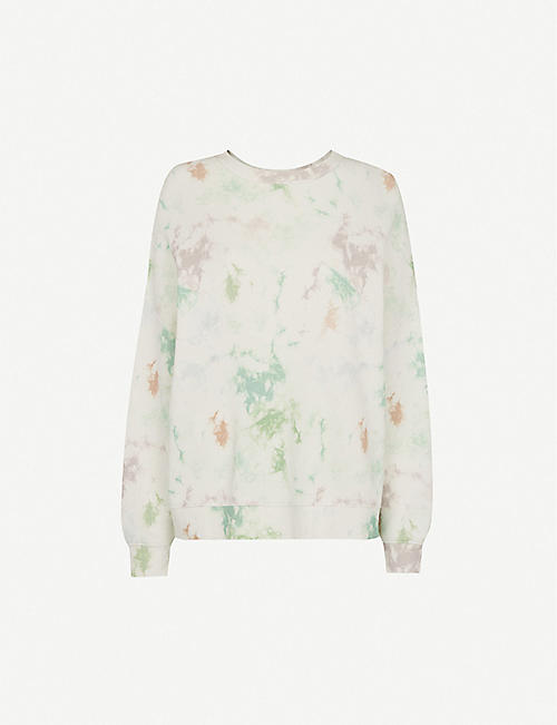 WHISTLES: Tie-dye cotton-blend jumper