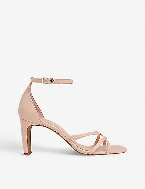 WHISTLES: Hallie strappy leather heeled sandals