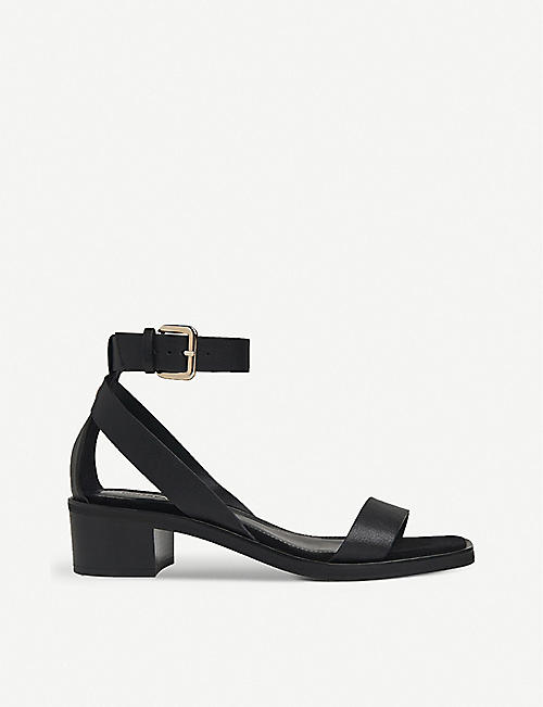 WHISTLES: Campbell block-heel leather sandals