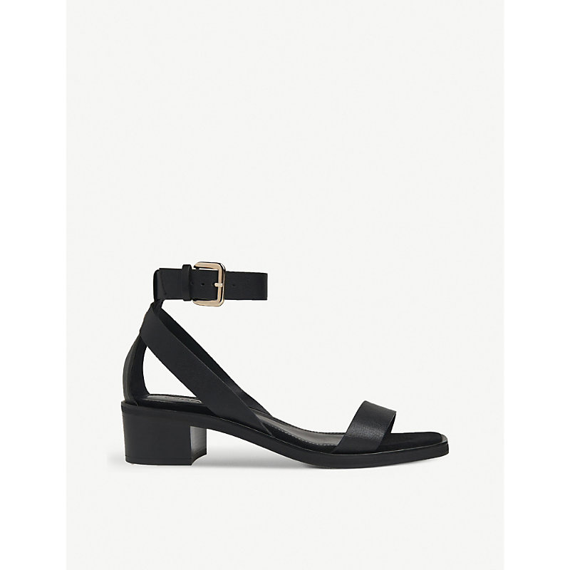 Whistles CAMPBELL BLOCK-HEEL LEATHER SANDALS