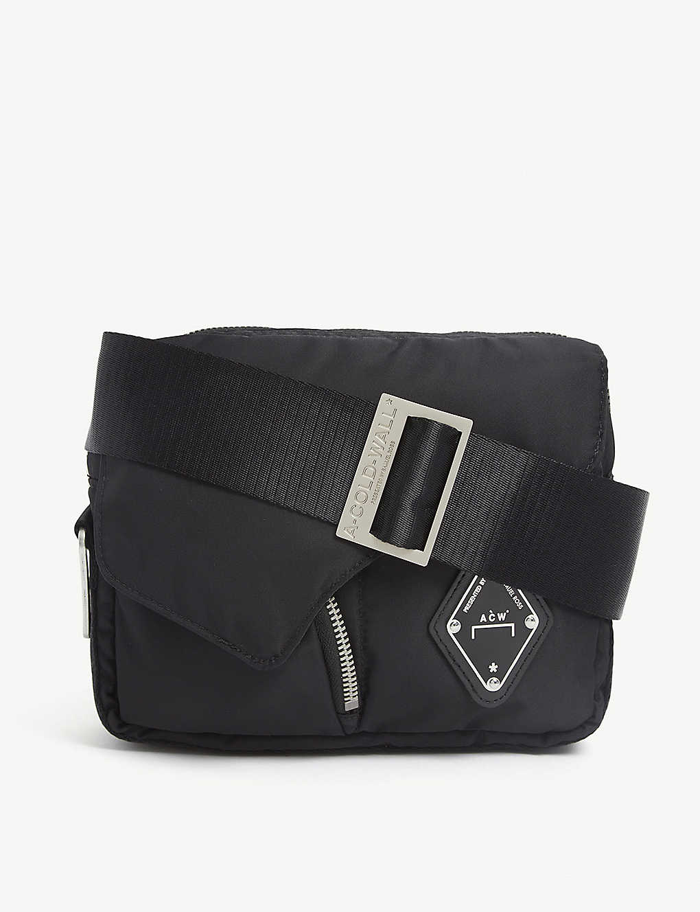 A-COLD-WALL: Logo-patch padded nylon cross-body bag
