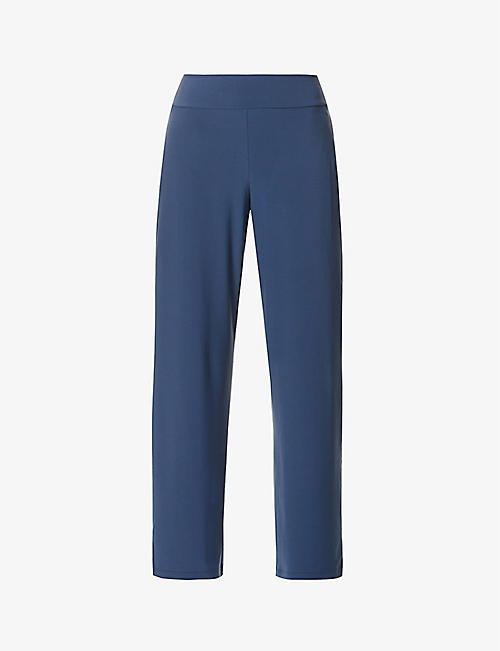MAX MARA: Gallura straight-leg high-rise stretch-knitted trousers