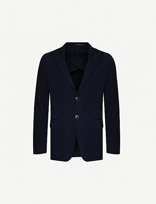 OSCAR JACOBSON: Erik single-breasted stretch-cotton blazer