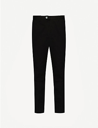 OSCAR JACOBSON: Denzel stretch-cotton straight trousers