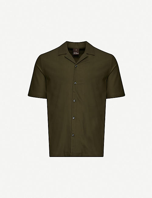 OSCAR JACOBSON: Cid cotton-piqué polo shirt