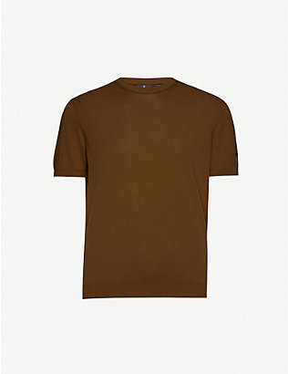 OSCAR JACOBSON: Barth knitted cotton T-shirt