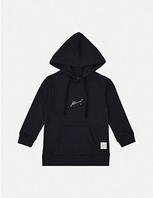PREVU: Logo-embroidered cotton-jersey hoody 4-14 years