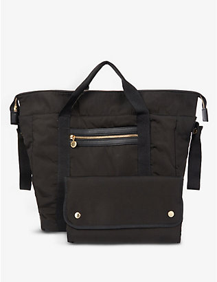 STELLA MCCARTNEY: Quilted-back shell changing backpack