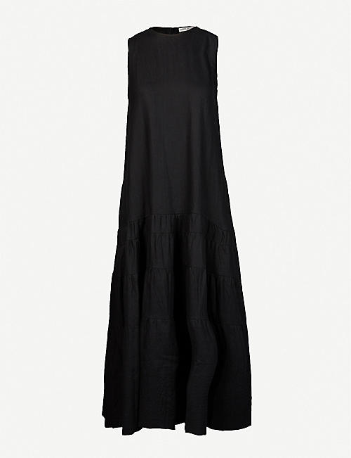 THREE GRACES LONDON: Abigail linen maxi dress