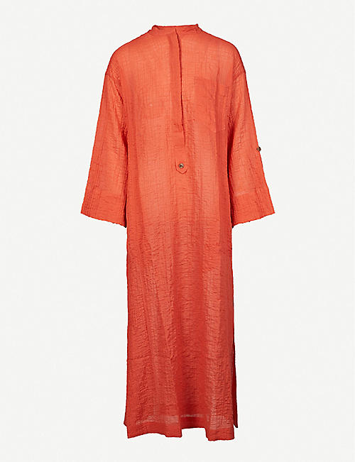 THREE GRACES LONDON: August stretch-cotton midi dress