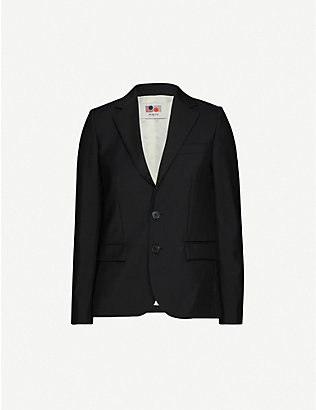 PORTS 1961: Single-breasted wool and mohair-blend blazer