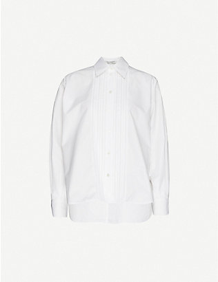 PORTS 1961: Pin-tucked cotton shirt