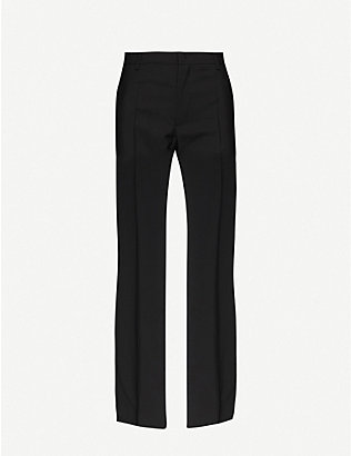 PORTS 1961: Straight-leg mid-rise mohair and wool-blend trousers
