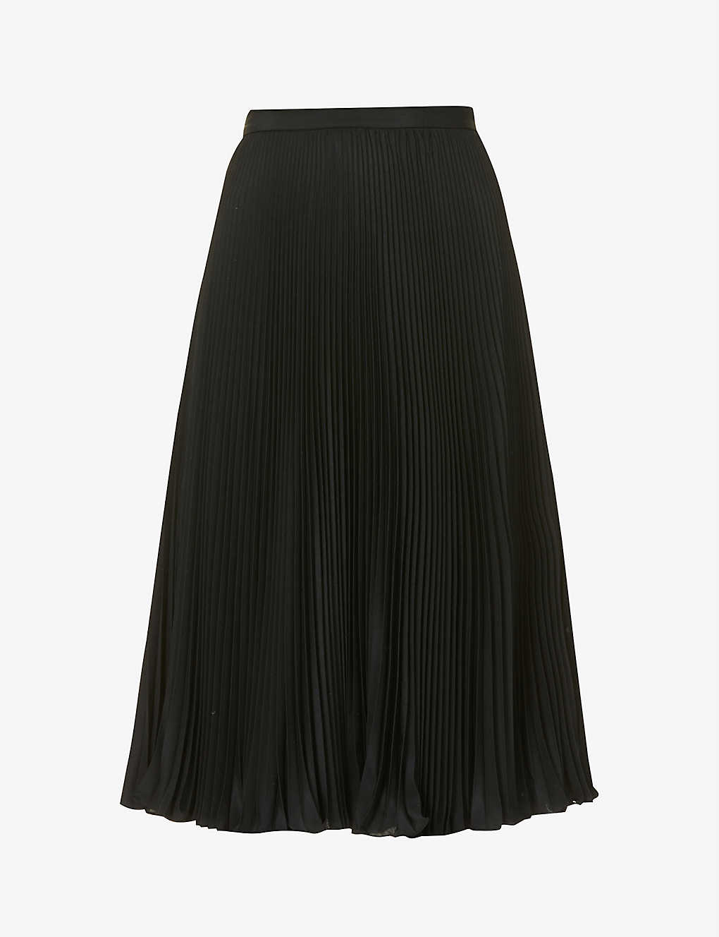 PORTS 1961: High-waisted pleated satin midi skirt