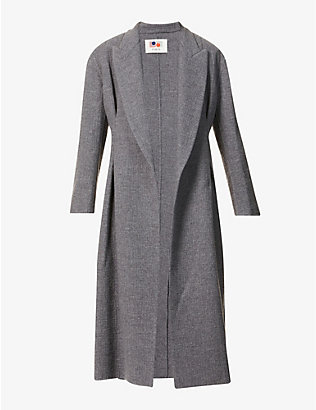 PORTS 1961: Belted wool and cashmere-blend coat